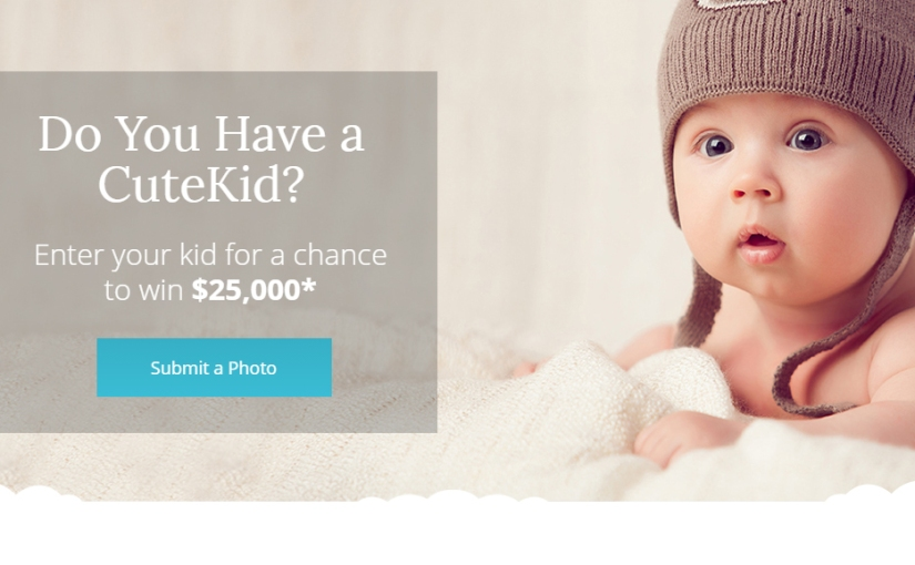 Enter the CuteKid Of the Year Contest for a chance to win $25,000