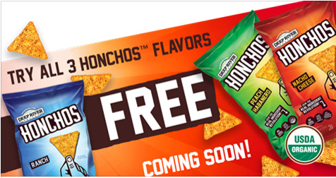 HURRY! Free Honchos Organic Chips