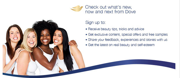 Free Dove beauty samples and free coupon