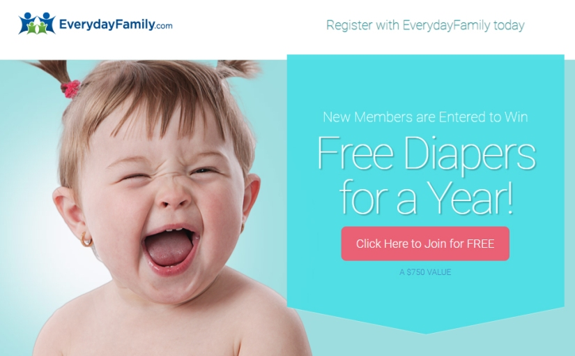 Free Baby Samples in your mailbox & enter to win ONE YEAR worth of diapers!