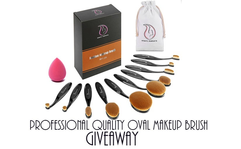 Professional Quality Oval Makeup Brush Giveaway