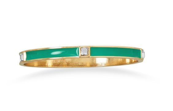 Free Teal Enamel Fashion Bangle Bracelet