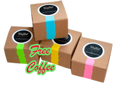 Try it free! Sampler set of four different coffee roasts!