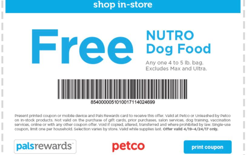 Free Nutro 4 – 5 lb Bag Of DogFood