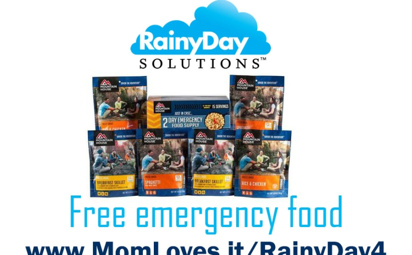 Request a free sample of emergency food from Rainy Day