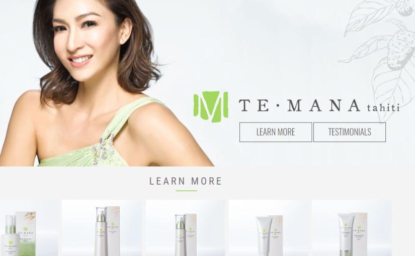 Free beauty samples from TeManaTahiti