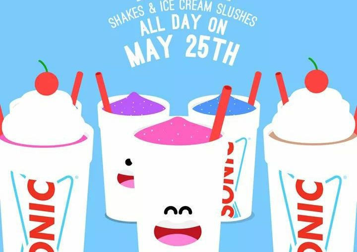1/2 Price Ice Cream and Ice Cream Slushes at SONIC Tomorrow