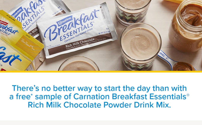 Get a free sample of Carnations Breakfast Essentials Rich Milk Chocolate Drink Mix