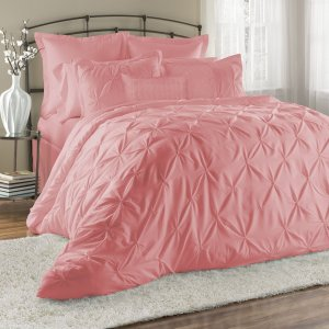 81d5762f28 8-Piece Lucilla Pinch Pleat Comforter Set in California King only  5.22  with free shipping!