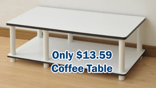 Score a $13 Coffee Table W/ Free Prime Shipping | Attention Broke College Students