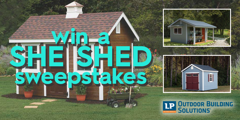 WOW! Win A Custom She Shed For Your Backyard!