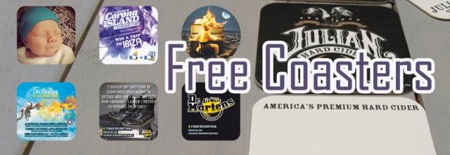 Free Drink Coasters