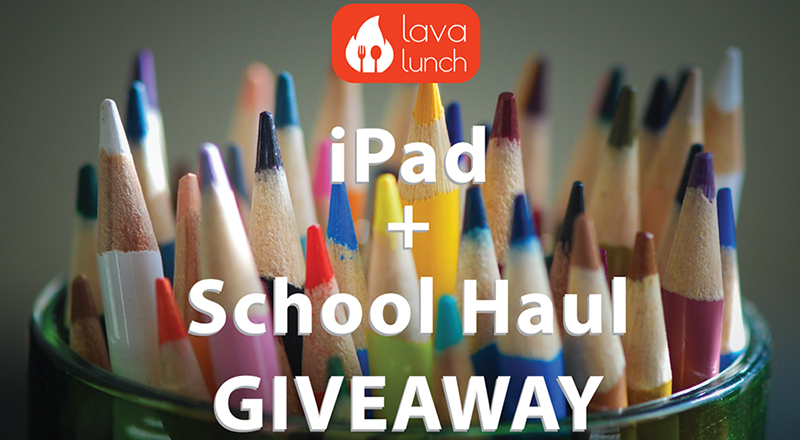iPad & School Haul GIVEAWAY by Lava Lunch