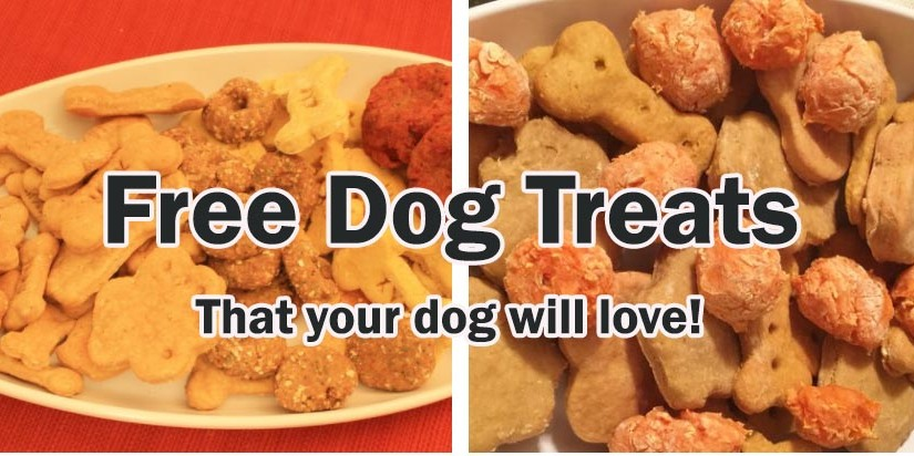 Free dog treats from Maxie Treats