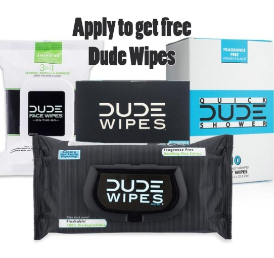 Apply to get FREE Dude Wipes | The company is looking for Ambassadors