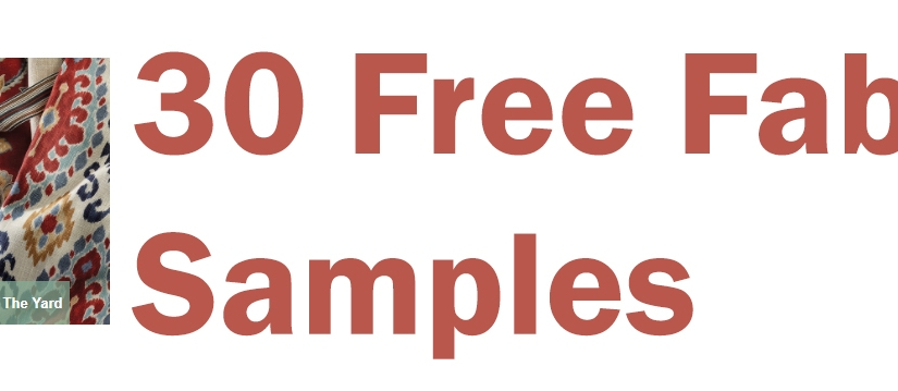 30 Free Fabric Samples –Crafters