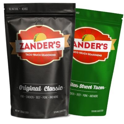 Request a free sample of Zander's Taco Truck Seasoning