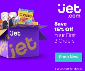 The Jet site is offering 15% off your first 3 orders AND 10 points for every dollar spent!