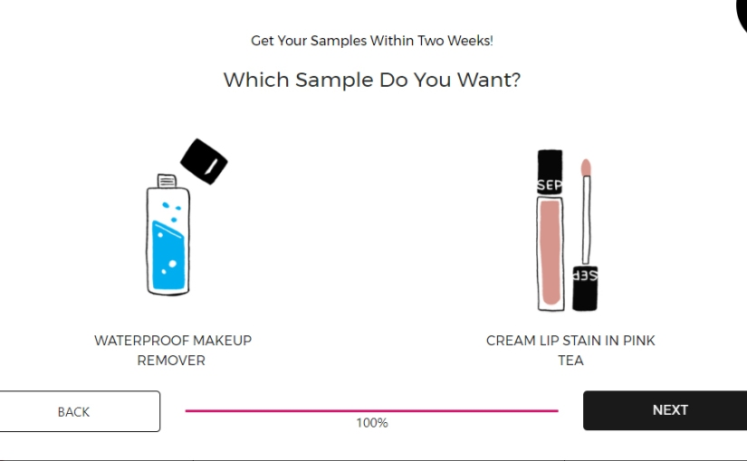Secret Sephora Makeup Sample Link leaked | Lip stain or waterproof makeup remover