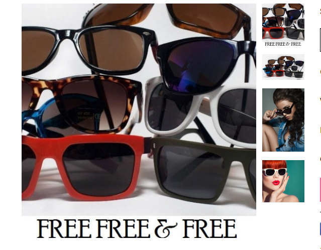 FREE SUNGLASSES – Hurry because these will gofast!