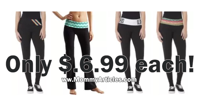 DEAL ALERT! Yoga Workout Pants Only $6.99 !!!!