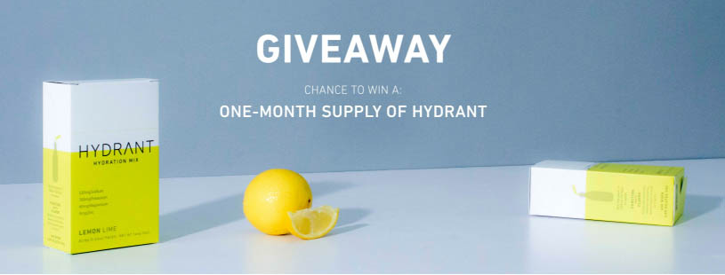 GIVEAWAY! Win a ONE Month Supply of Hydrant