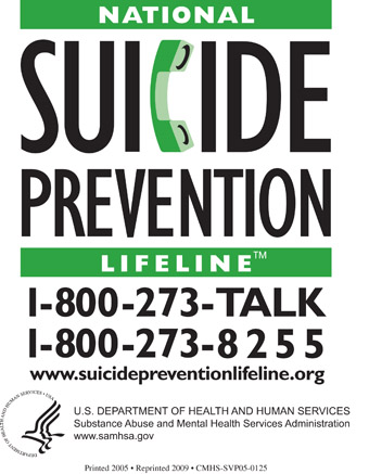 Free National Suicide Prevention Magnet