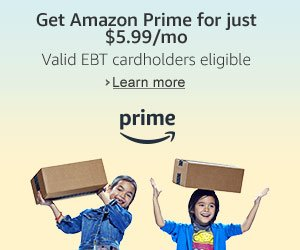 ATTENTION EBT Card Holders! Right now you can score an Amazon Prime membership $5.99 amonth!!!!