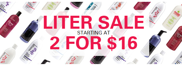 Sally's Beauty is Having Their Annual Liter Sale! You can score TWO liter bottles for as low as $16 for both!