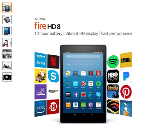 HOLY COW! Fire HD 8 Tablet with Alexa 16GB $54.99