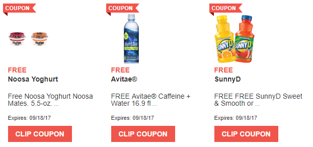FREE Noosa Toghurt, Avitae, and SunnyD (In store)